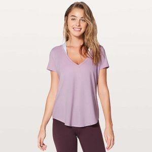 Lululemon Lavender V-Neck Love Tee Size 10